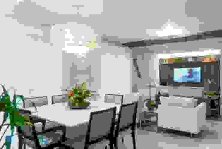 Sala de jantar e estar Salas de jantar modernas por Nilda Merici Interior Design Moderno
