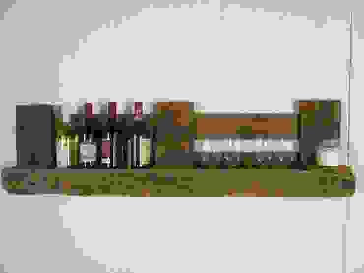 Flaschen- und Weinregal aus gebrauchten Europaletten Woodupcycling KücheSchränke und Regale