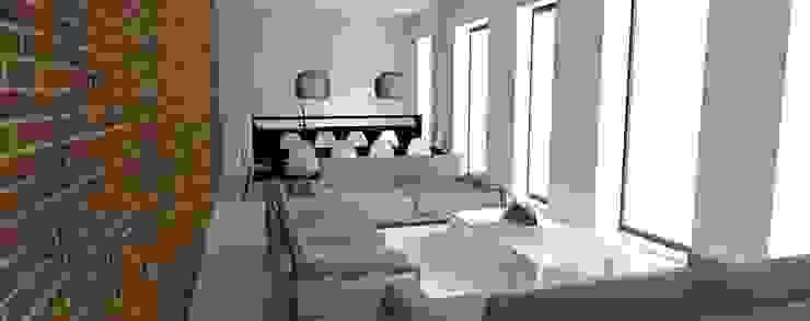 Interior Design - Render Soggiorno minimalista di Filippo Fiori Architetto Minimalista