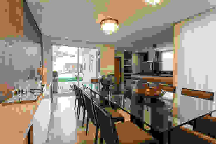Sala de Jantar - Casa no Bandeirantes Salas de jantar ecléticas por A3 Arquitetura e Interiores Eclético