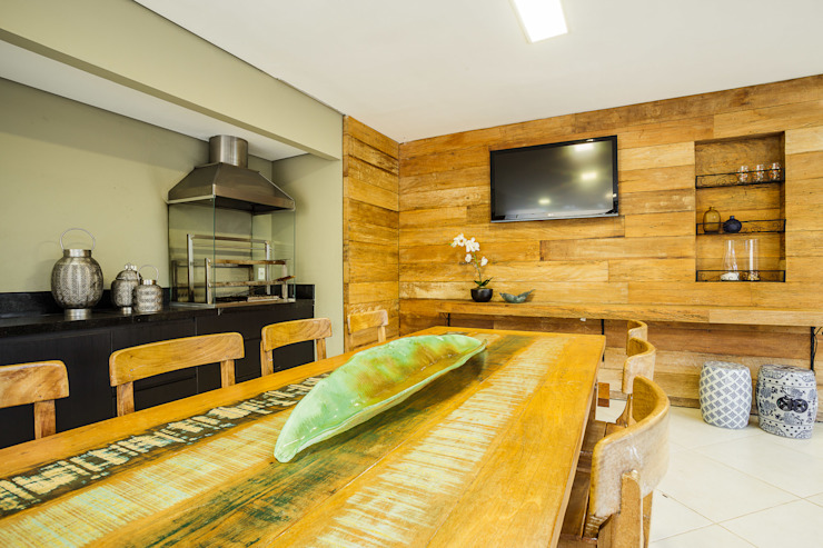 Rustic style kitchen by A3 Arquitetura e Interiores Rustic Wood Wood effect