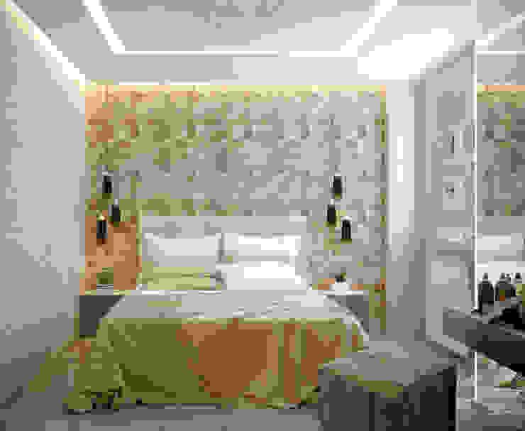 Дизайн спальни в современном стиле по ул. Покрышкина Спальня в стиле модерн от Студия интерьерного дизайна happy.design Модерн