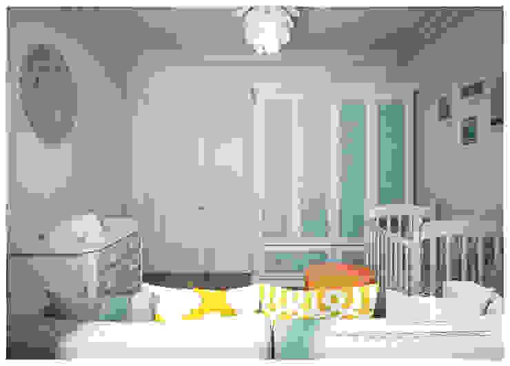 Бирюзовая детская в традиционном стиле Alexander Krivov Детская комнатa в классическом стиле Бирюзовый