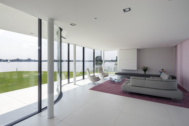 Living room by Lab32 architecten, Modern