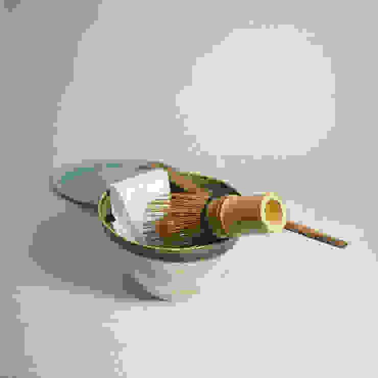 サイズにコダワッタ卓上用の抹茶茶碗「Modern series ORIBE 小服茶碗」: 愚陶庵が手掛けた現代のです。,モダン 陶器