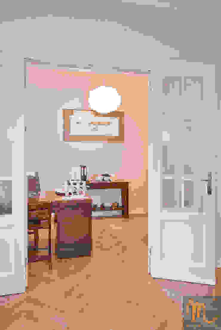 SASKA KĘPA Nowoczesne domowe biuro i gabinet od studio m Katarzyna Kosieradzka Nowoczesny