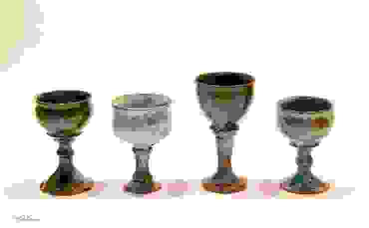 ゴブレット: 庚申窯-Koshin-kiln-が手掛けた折衷的なです。,オリジナル 陶器