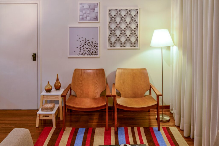 APTO VG Salas de estar modernas por KFOURI ZAHARENKO arquitetura e design Moderno