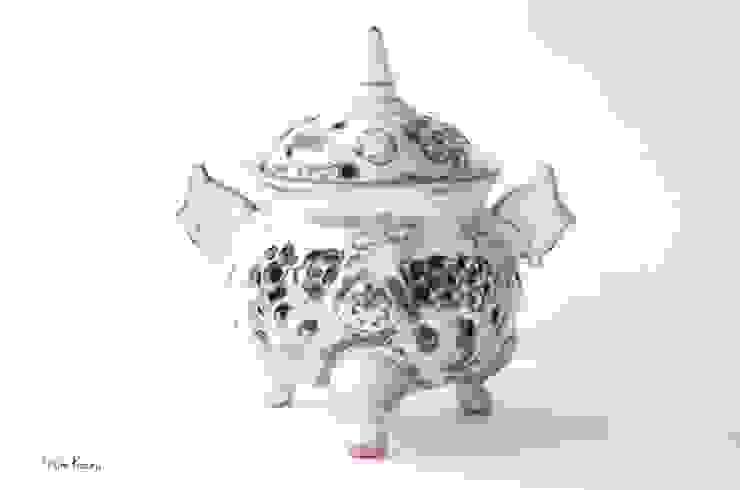 香炉: 庚申窯-Koshin-kiln-が手掛けた折衷的なです。,オリジナル 陶器
