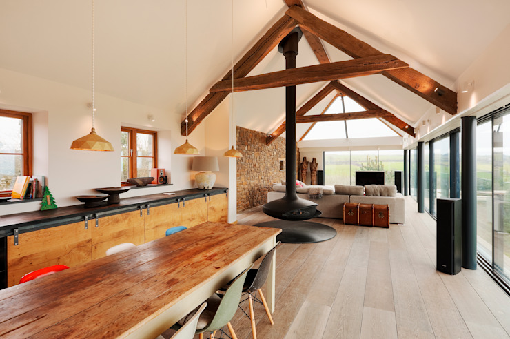 Down Barton, Devon Trewin Design Architects Moderne keukens