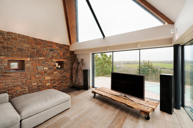 Down Barton, Devon Modern living room by Trewin Design Architects Modern