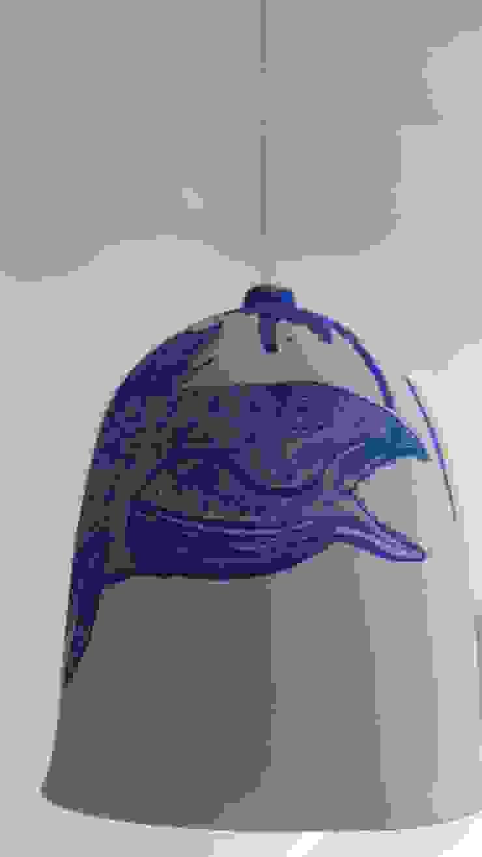 Bram van Leeuwenstein Living roomLighting Porcelain Blue