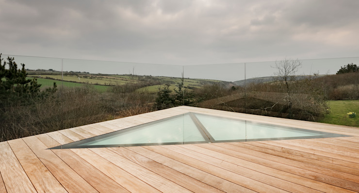 Down Barton, Devon Modern balcony, veranda & terrace by Trewin Design Architects Modern