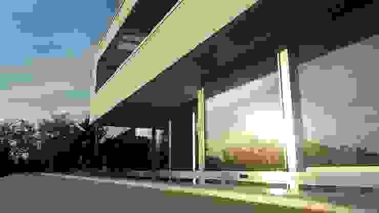 Hiên, sân thượng phong cách hiện đại bởi Diemer Architekten Part. mbB Hiện đại Đá vôi