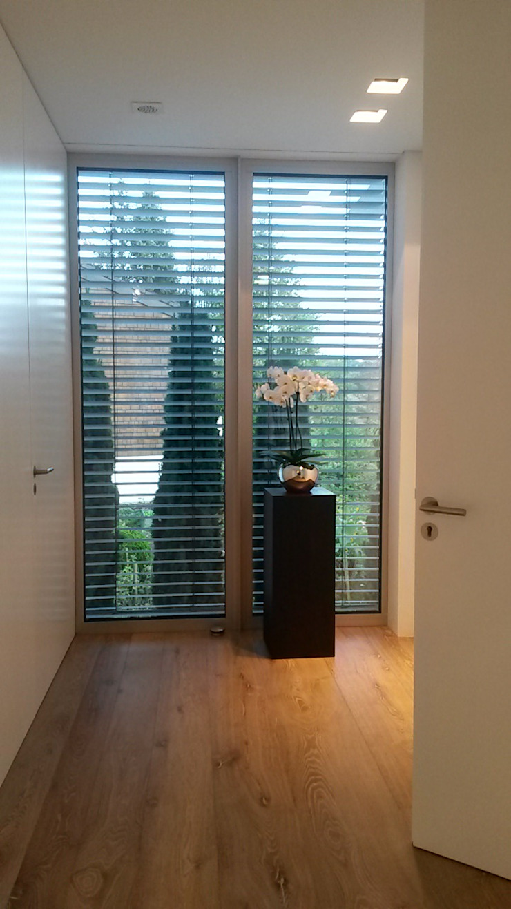Hành lang, sảnh & cầu thang phong cách hiện đại bởi Diemer Architekten Part. mbB Hiện đại Kim loại