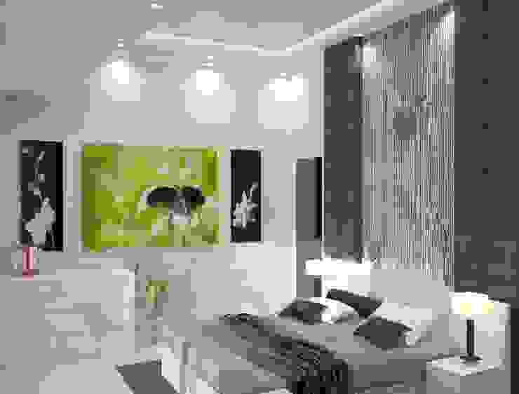 Дом в стиле хайтек или простота в деталях Спальня в стиле модерн от DONJON Модерн