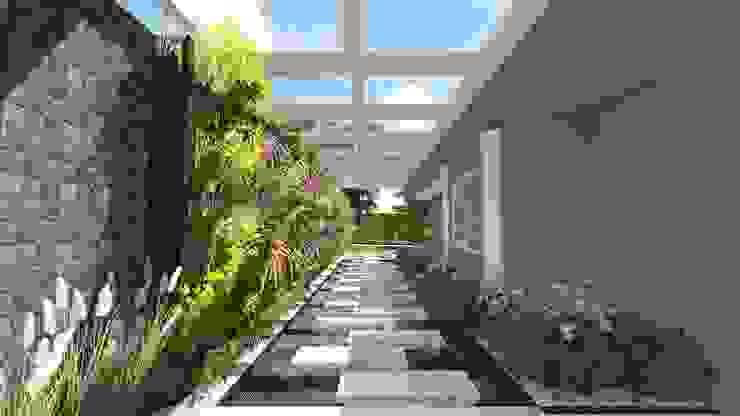 Entrada Lateral Jardins modernos por Studio² Moderno