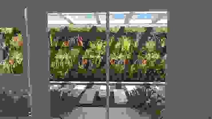 Vista da sala de estar Jardins modernos por Studio² Moderno