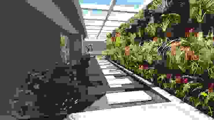 caminho lateral Jardins modernos por Studio² Moderno