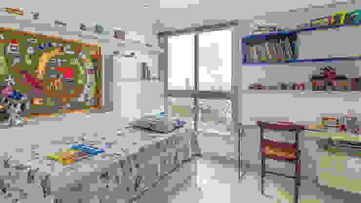 Residência T|R—VZ Arquitetas Lyssandro Silveira Modern nursery/kids room White