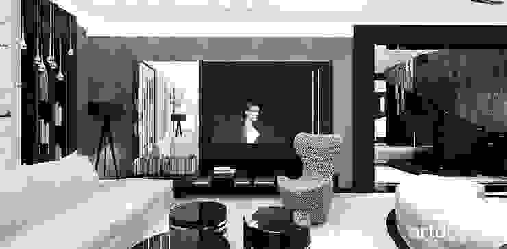 projekt salonu: styl , w kategorii Pokój multimedialny zaprojektowany przez ARTDESIGN architektura wnętrz,Nowoczesny