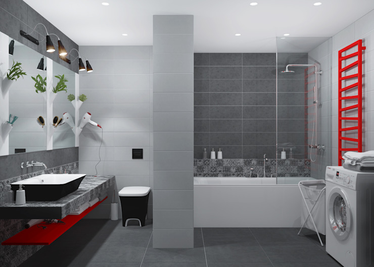 3D GROUP Minimalist style bathrooms