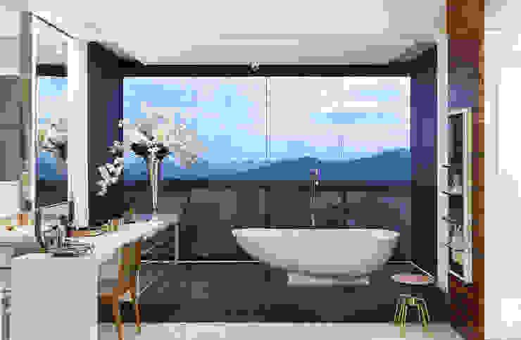 Sala de Banho AQVA Banheiros modernos por daniela andrade arquitetura Moderno
