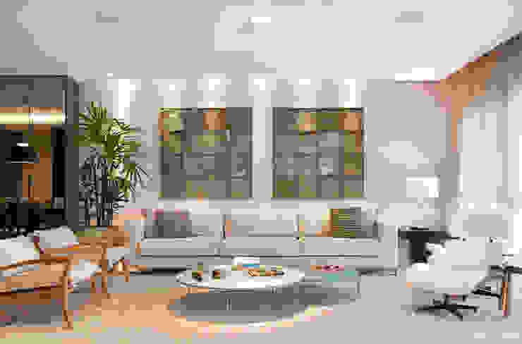 apartamento Peninsula - Barra da Tijuca Salas de estar modernas por Isabela Lavenère Arquitetura Moderno