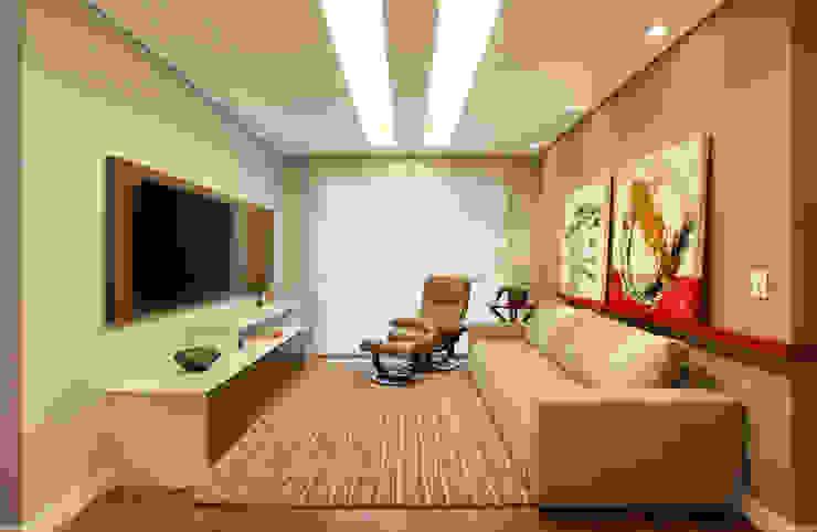 Salas multimédia modernas por Isabela Lavenère Arquitetura Moderno