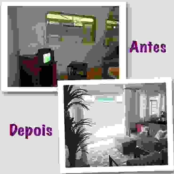 ANTES E DEPOIS (REFORMA HOME THEATER) Salas multimídia clássicas por Vanessa Corleto Clássico