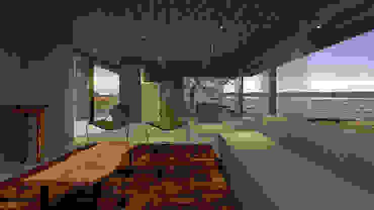 Casa RR Salas de estar modernas por BORA Arquitetos Associados Moderno