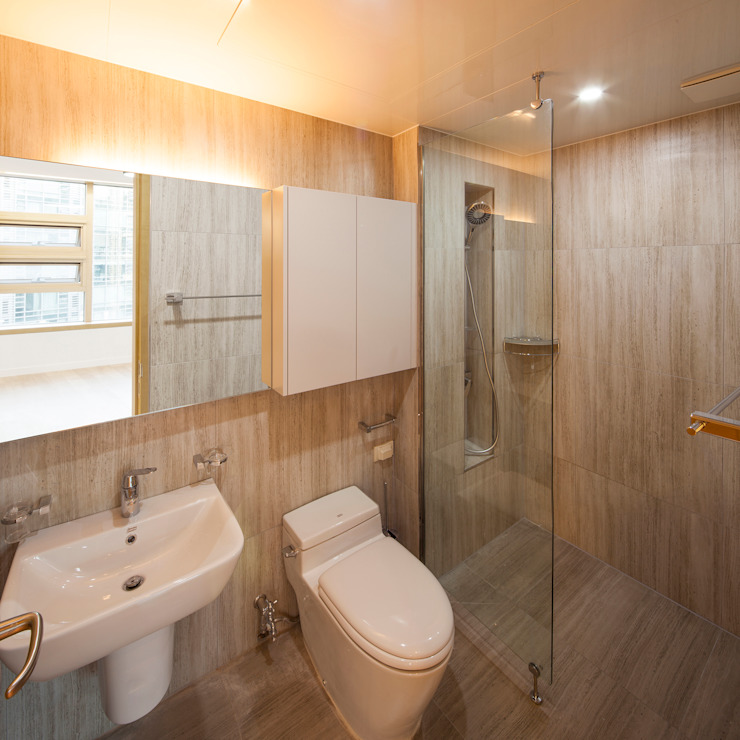 Minimal style Bathroom by 수상건축 Minimalist