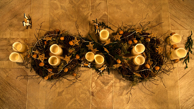 Centro de mesa navideño. de MARIANGEL COGHLAN