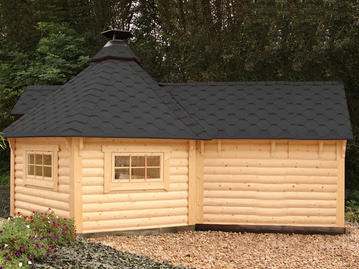 Jardines de estilo escandinavo de Gartenhaus2000 GmbH Escandinavo Madera Acabado en madera