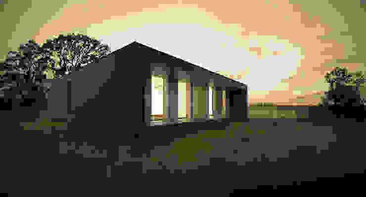 habitação unifamiliar Escritórios modernos por archi3d Moderno