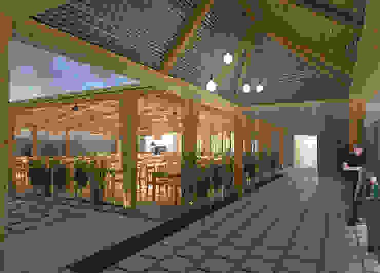 Restaurante Cozinhas modernas por archi3d Moderno