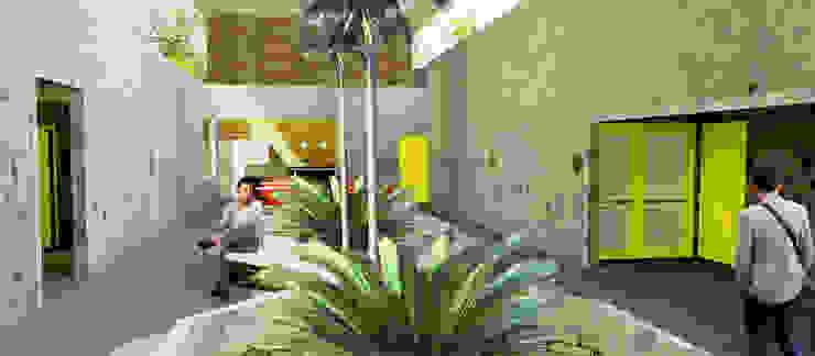 Foyer Locais de eventos modernos por Henrique Rocha Arquitetura Moderno