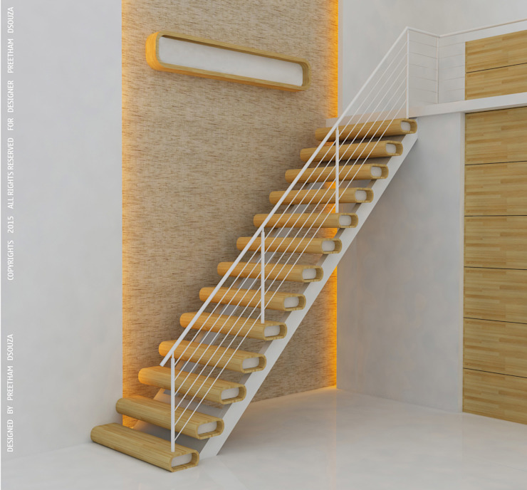 Staircase Design Modern living room by Preetham Interior Designer Modern