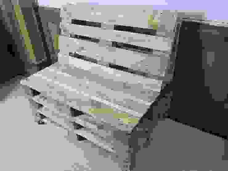 Bank - Sitzgruppe aus gebrauchten Europaletten Woodupcycling GartenMöbel
