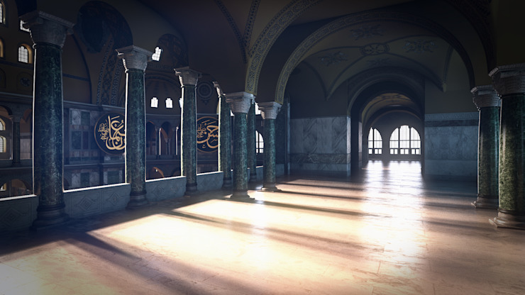 Ayasofya 3d Proje Rustik Koridor, Hol & Merdivenler 3danimasyon Rustik