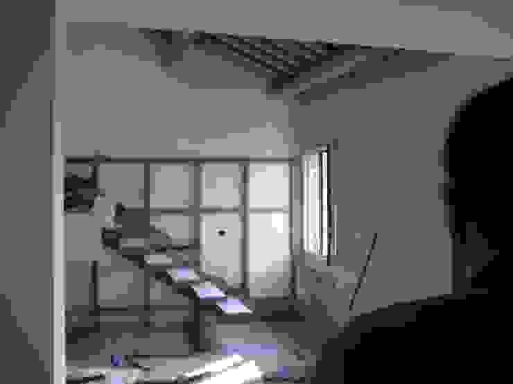 cristina mecatti interior design Modern corridor, hallway & stairs