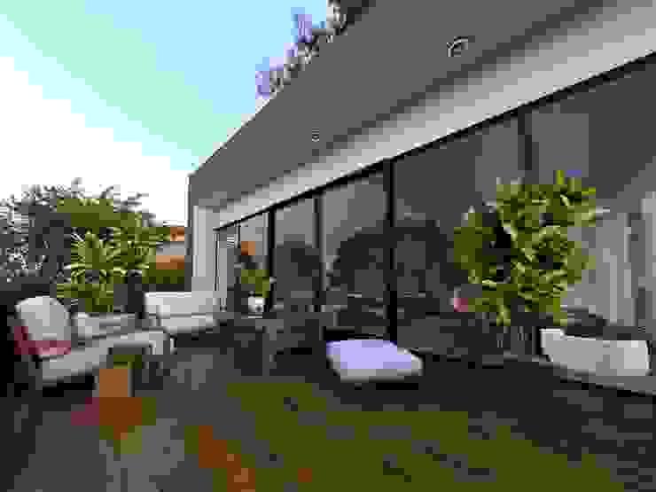 Projectos y Espacios Balcones y terrazas modernos de 3harquitectos Moderno