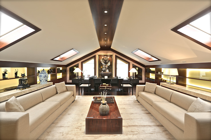 Oficinas y bibliotecas de estilo moderno de Kerim Çarmıklı İç Mimarlık Moderno