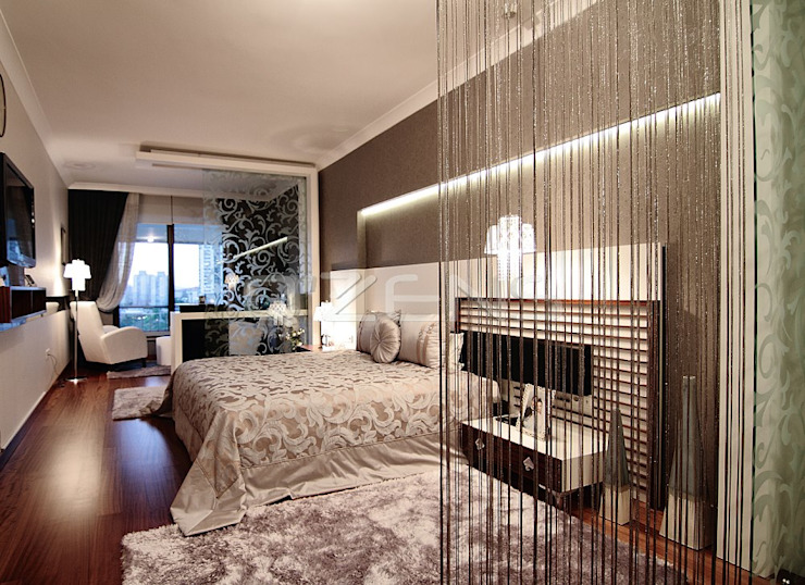 Göktürk Konutu Modern Yatak Odası QZENS MOBİLYA Modern