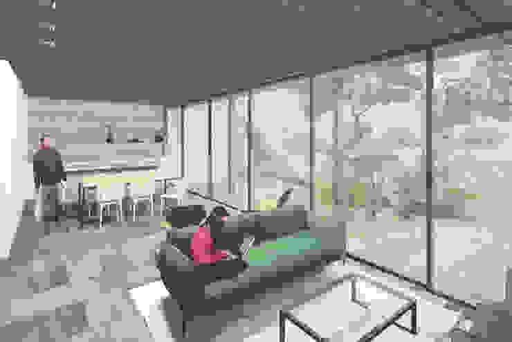 Modern Living Room by Commune Arquitetura Modern Glass