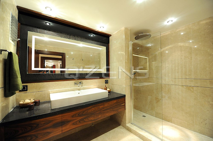 Park Yıldız Konutları Modern Banyo QZENS MOBİLYA Modern
