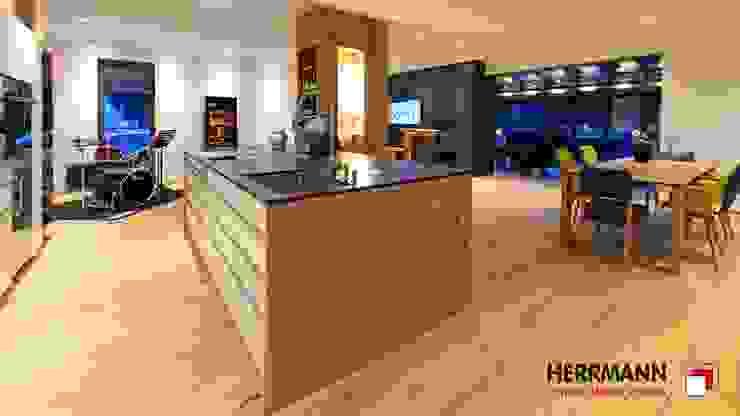 Raumkonzept mit Eiche Moderne Esszimmer von Herrmann Parkett.Möbel.Räume. Modern Holz Holznachbildung