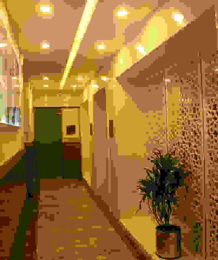 Institute of Urology Minimalist corridor, hallway & stairs by Design Square Minimalist