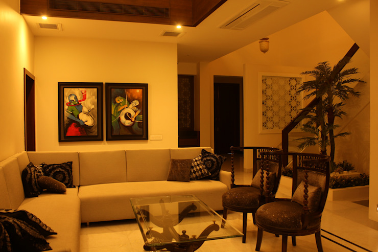Saraswat's House Asian style living room by Design Square Asian