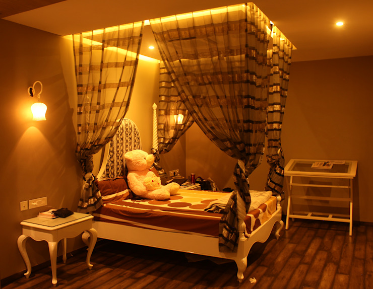 Saraswat's House Rustic style bedroom by Design Square Rustic